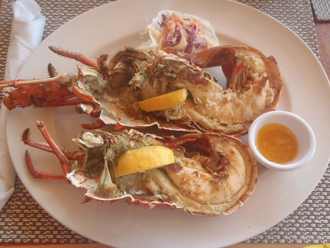 Cooked lobster at Hank's Island Carousel, Shoal Bay, Anguilla Picture