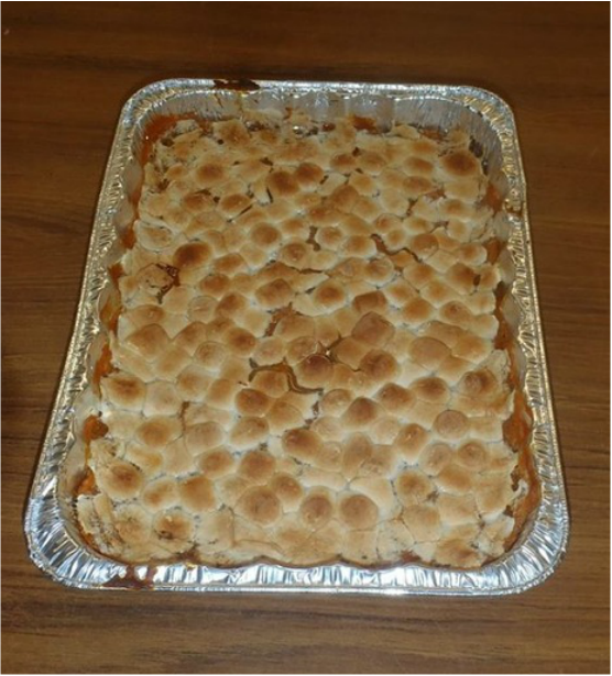 sweet potato bake with marshmallow