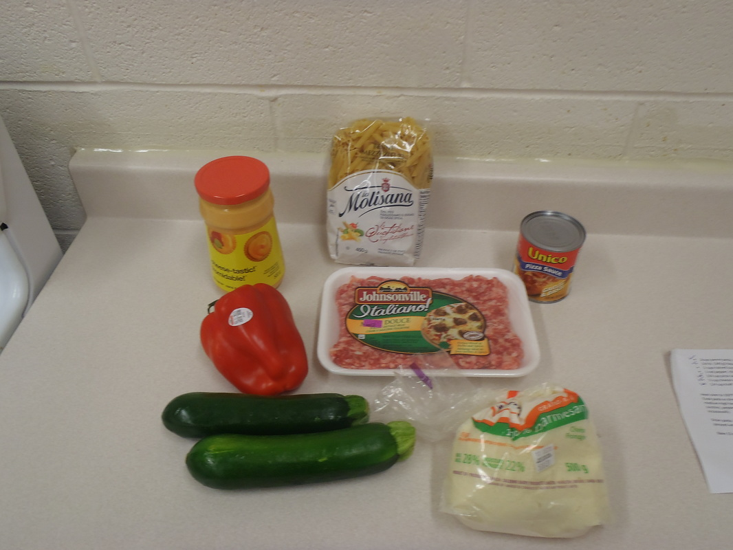 Cheesy Italian Sausage Bake Ingredients