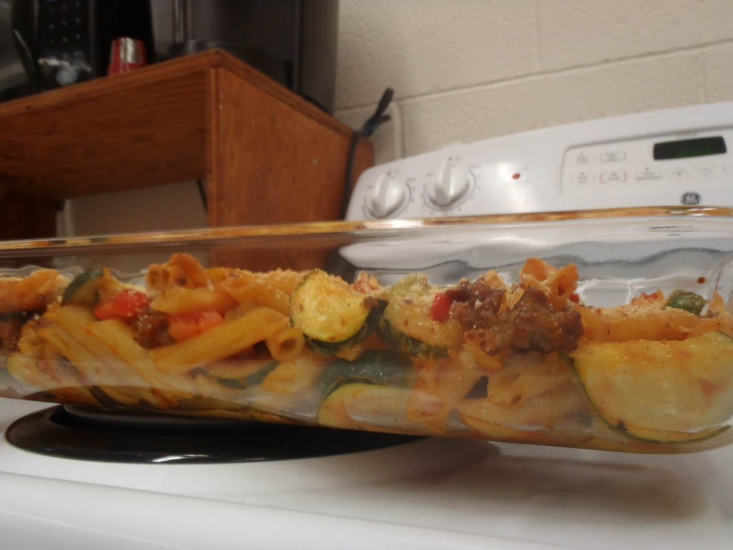 side angle photo of Cheesy Italian Sausage Bake