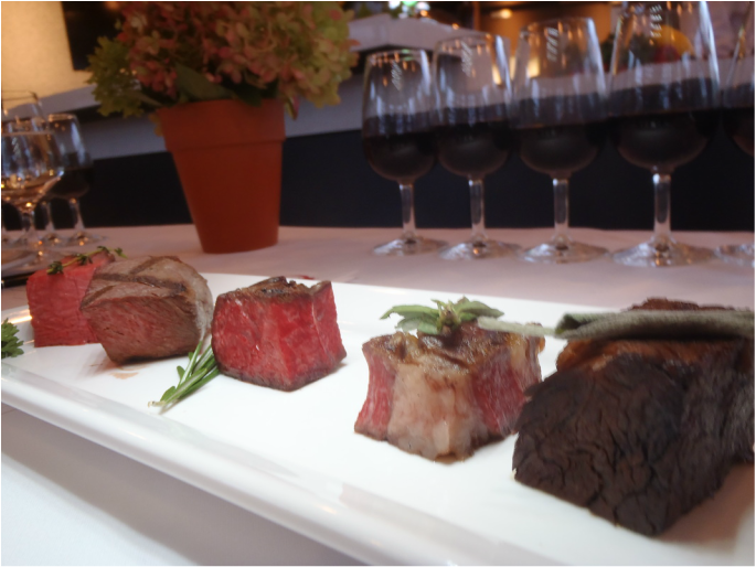Five different cooked cuts of Canadian beef Picture